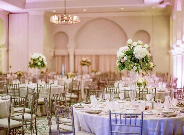 Blush and Silver Ballroom Wedding