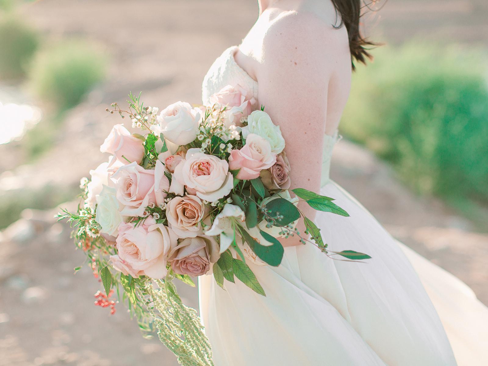 Bride Bouquet Pink Roses