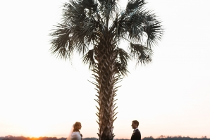 Bride Groom and Palm Tree