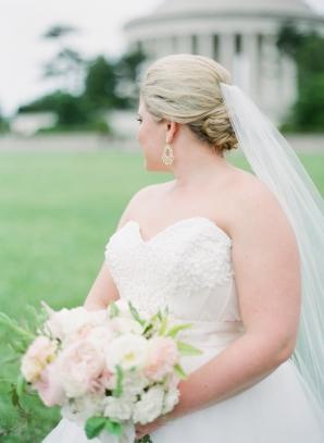 Bride at Jefferson Memorial