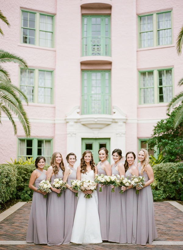 Bridesmaids in Dusty Pale Purple