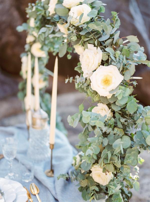 Circular Wedding Table Backdrop