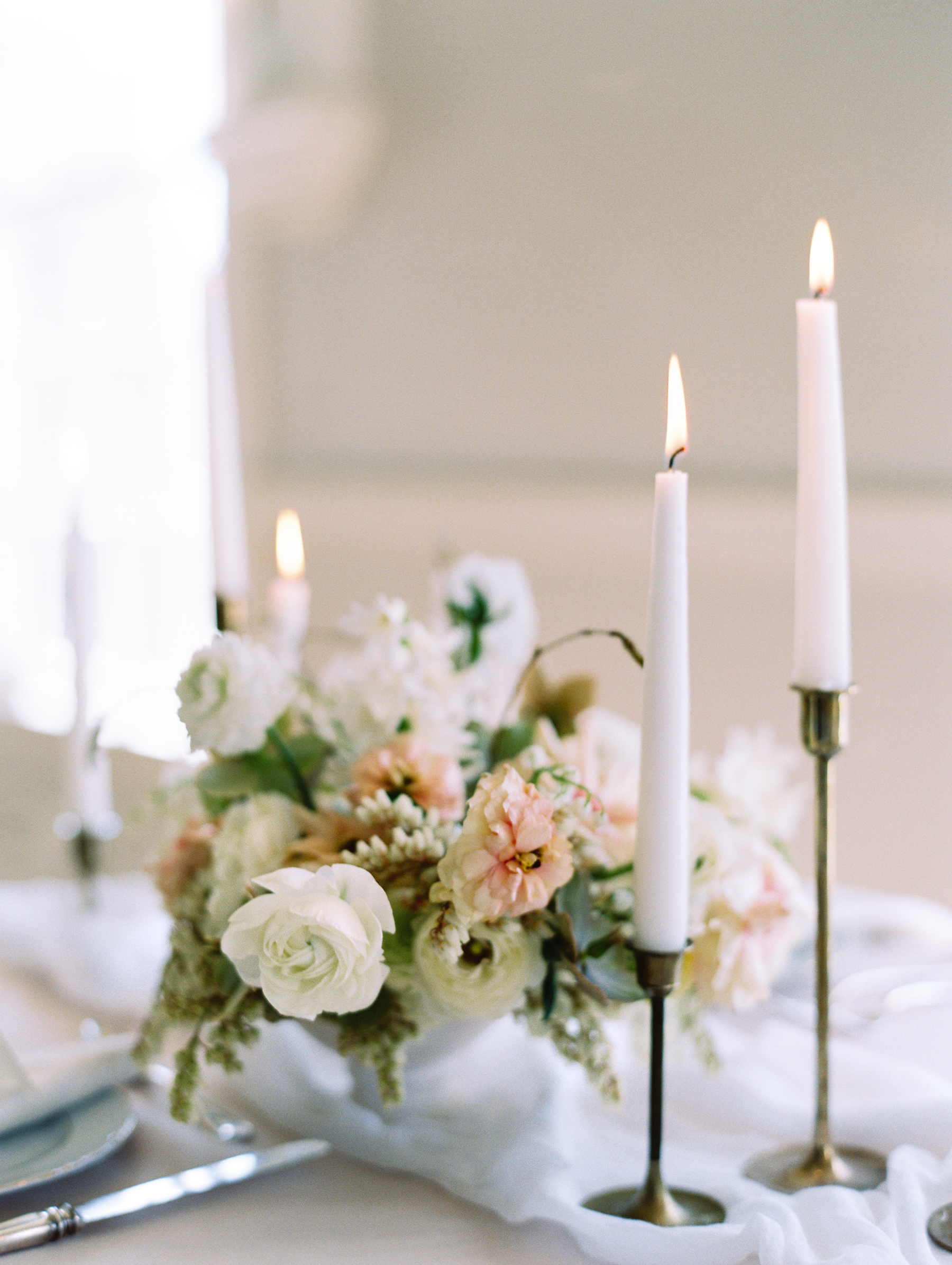 Elegant Centerpiece with Taper Candles