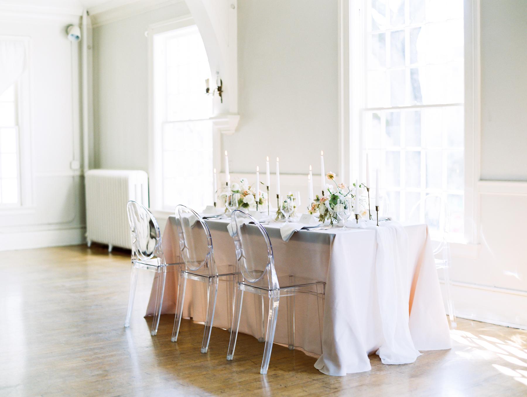 Elegant Gray Blush Neutral Wedding Table