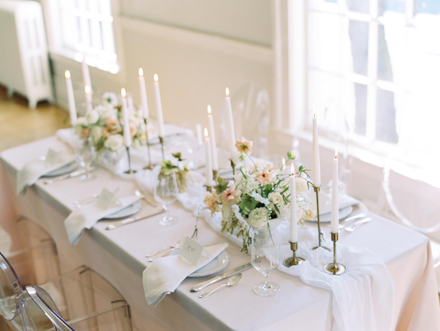 Elegant Neutral Wedding Centerpiece