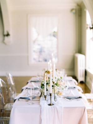 Elegant Neutral Wedding Table with Candles