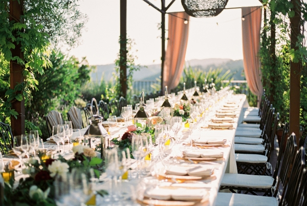 Elegant Outdoor Villa Wedding