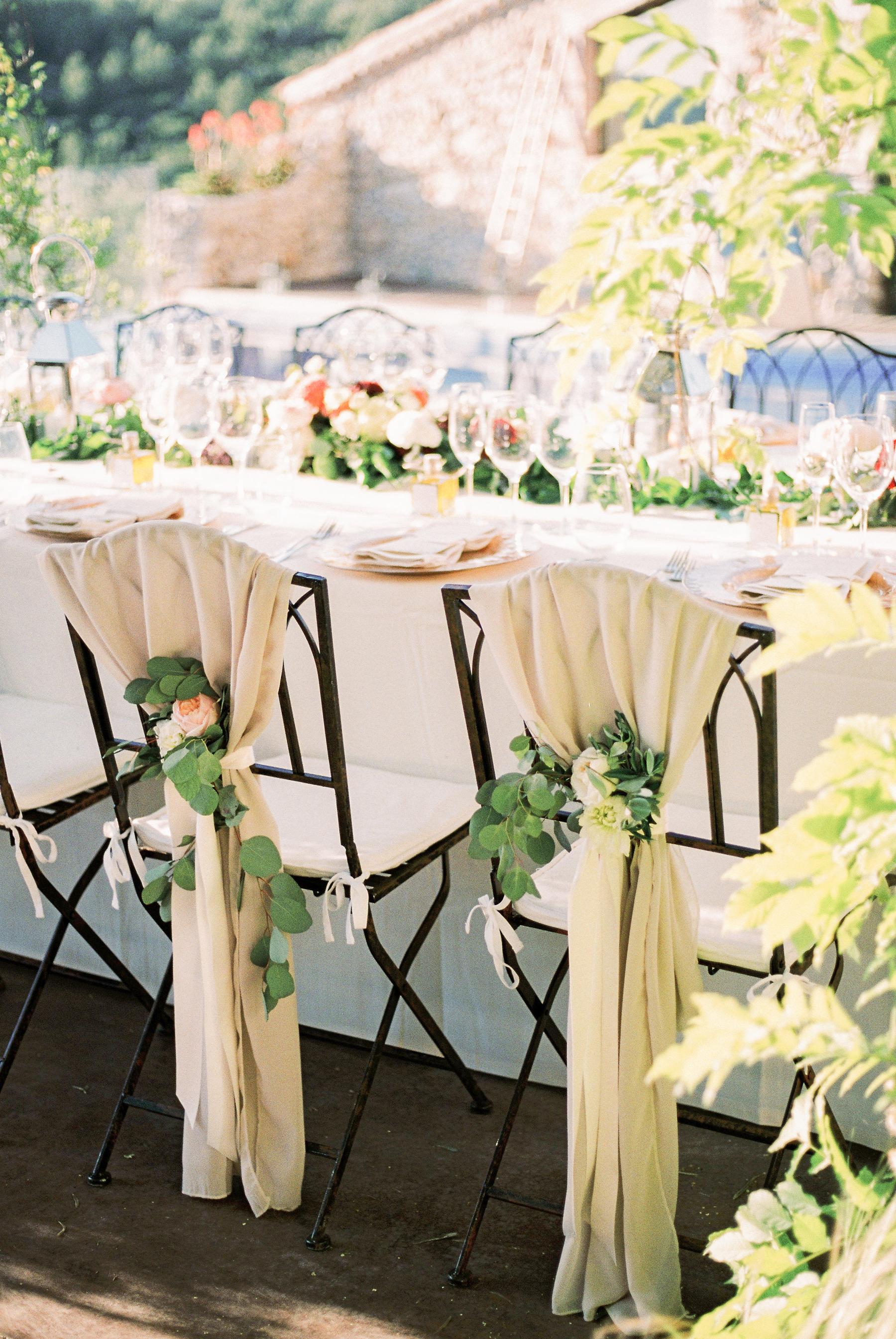 Elegant Wedding Chair Decoration
