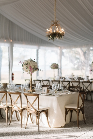 Elegant White and Gold Tent Wedding