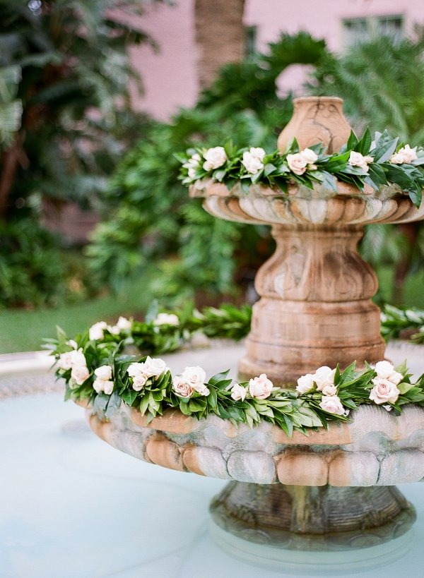 Flower Garland in Fountain