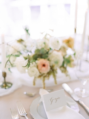 Gold Calligraphy Wedding Place Setting