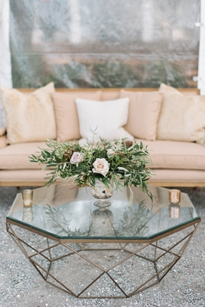 Gold and Ivory Wedding Lounge Area