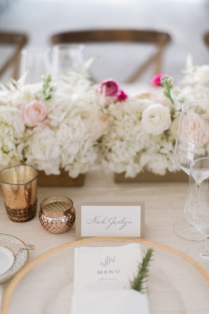 Gold and White Wedding Centerpiece