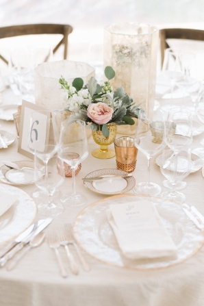 Ivory and Blush Centerpiece