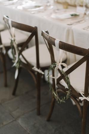 Olive Leaf Decor on Wedding Chairs