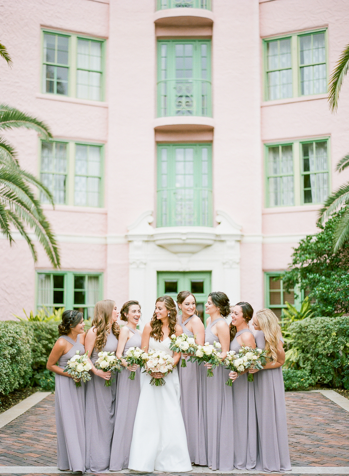 Pale Lavender Bridesmaids Dresses