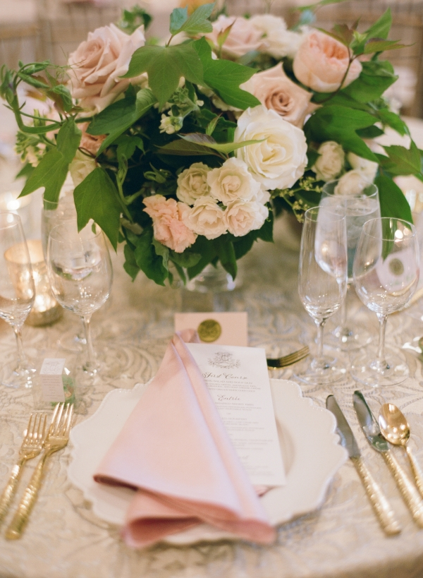 Pink Gold DC Ballroom Wedding