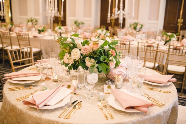 Pink and Gold DC Ballroom Wedding