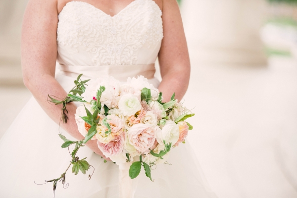 Pink and Ivory Bride Bouquet