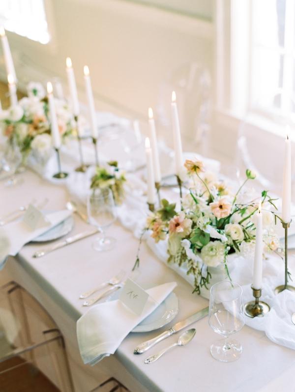 Romantic Neutral Wedding Centerpiece
