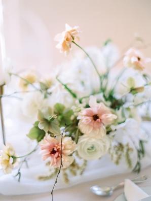 Romantic Peach Wedding Flowers