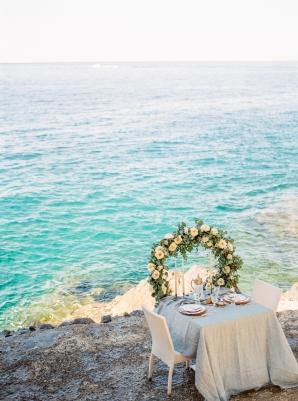 Romantic Table for Two on Amalfi Coast Wedding