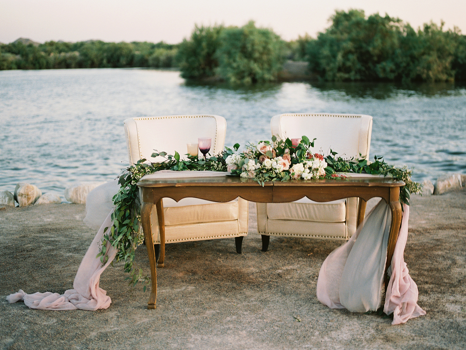 Romantic Table for Two on Beach