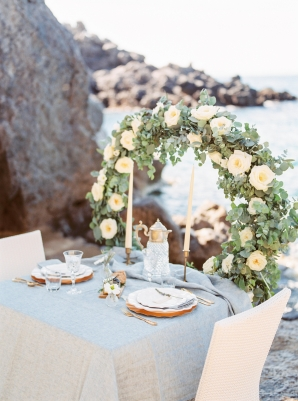 Romantic Wedding Table on Beach