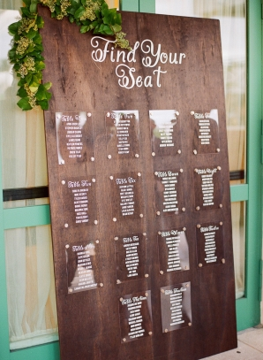 Seating Chart on Wood Board