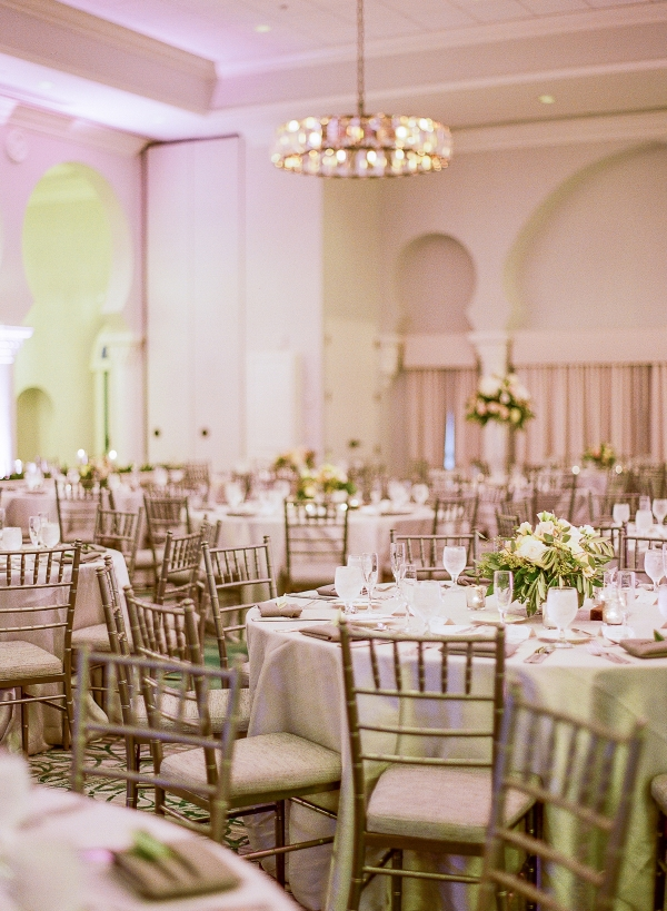 Silver and Blush Wedding Reception