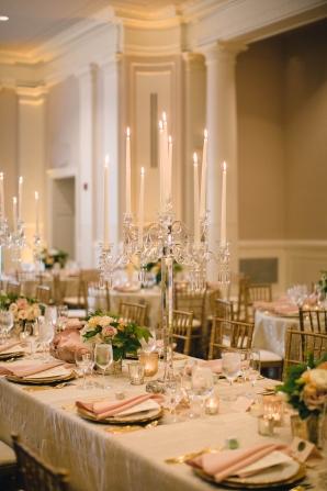 Tall Candelabra Centerpieces for Ballroom Wedding