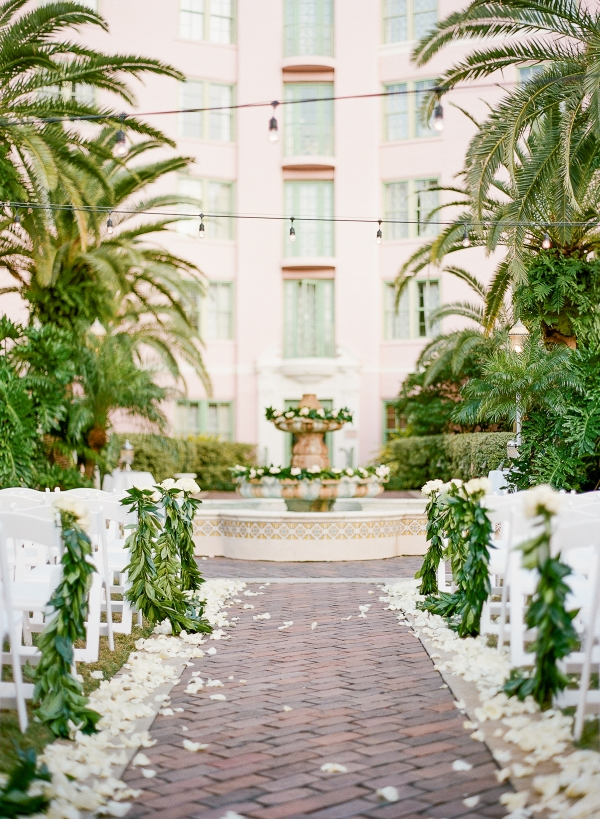 Vinoy Florida Outdoor Wedding Ceremony