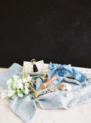 Vintage Blue Wedding Details