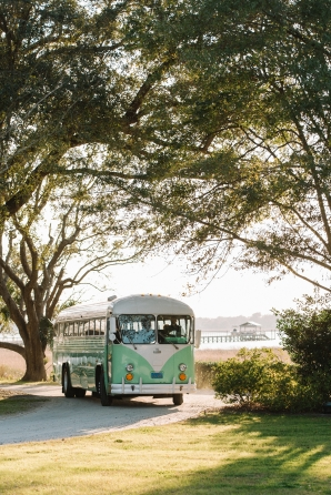 Vintage Bus for Wedding