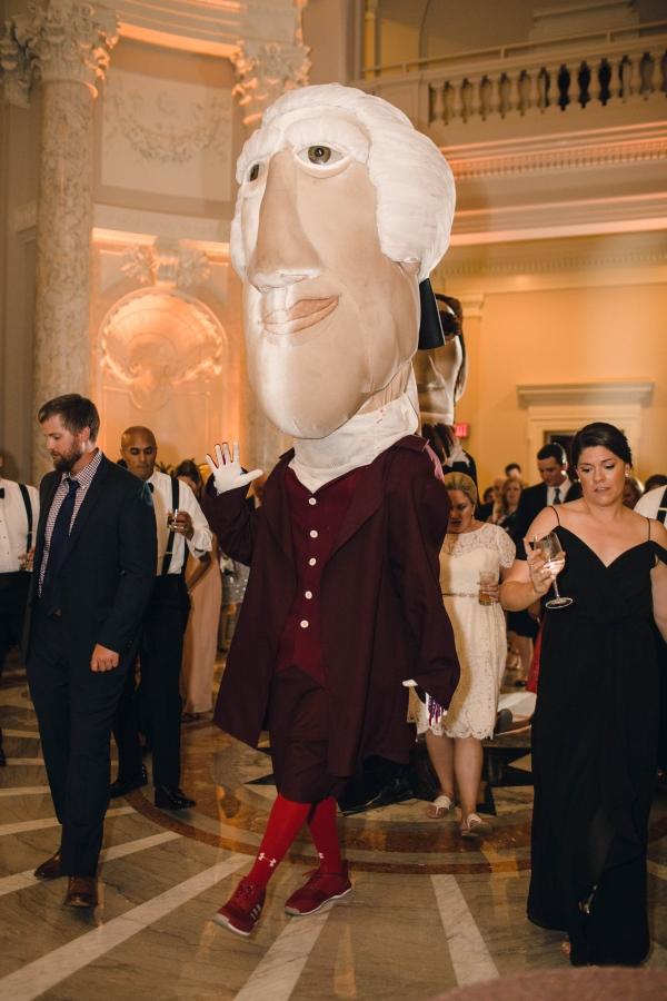 Washington Nationals Mascots Visit Wedding 2