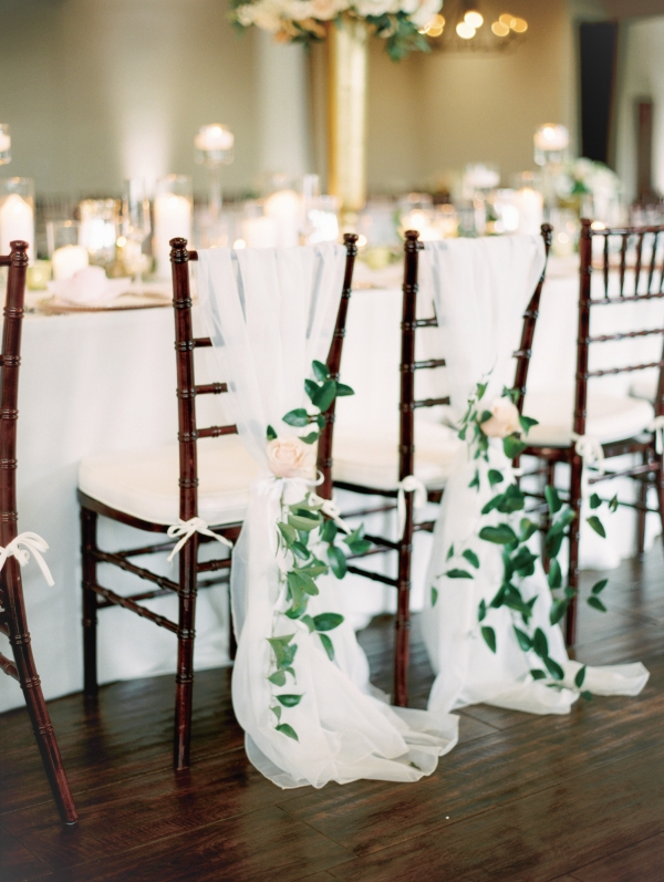 Wedding Bride and Groom Chair Detail