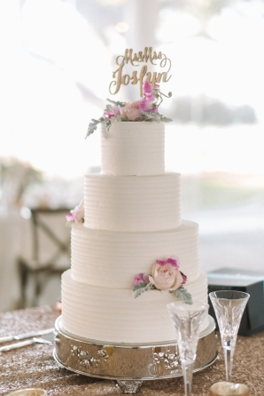 Wedding Cake with Laser Cut Topper