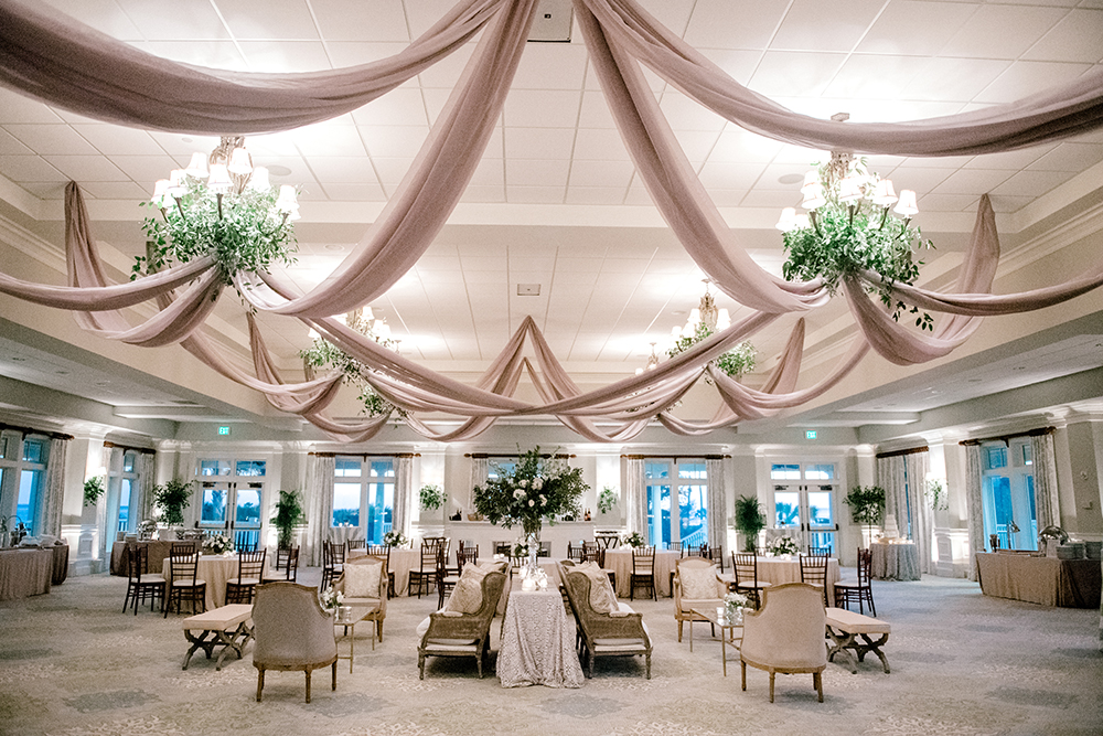 Wedding Reception with Ceiling Draping