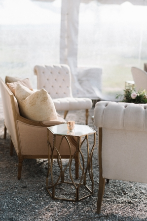 White and Gold Wedding Lounge Area