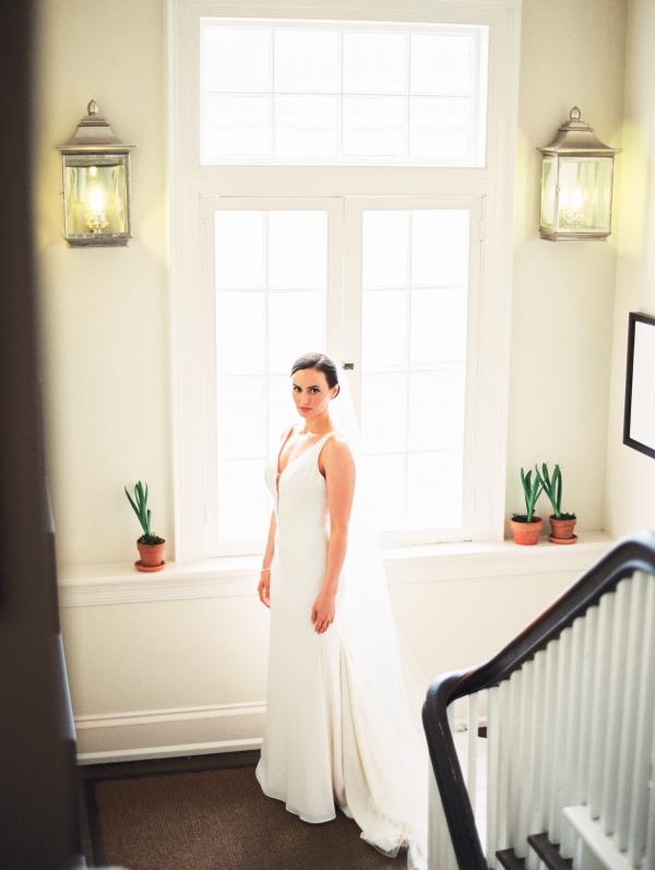 Bride in Mikaella Bridal