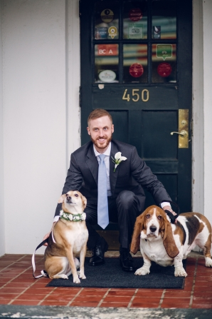 Groom with Dogs
