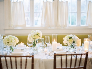Ivory and Butter Yellow Wedding Reception