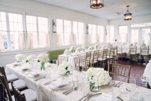 Mansion Wedding Reception White and Gold