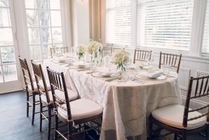 Romantic Intimate Mansion Wedding Reception