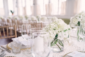 White and Gold Mansion Wedding