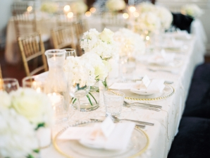 White and Ivory Wedding Reception