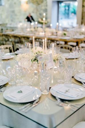 Acrylic and Candle Wedding Decor