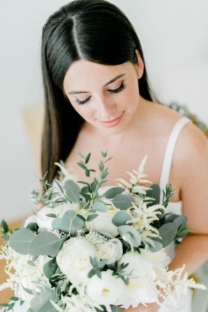 Bride with Chic Mod Hairstyle