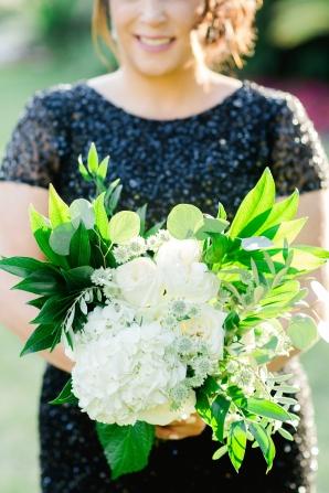 Bridesmaid in Black Sequins
