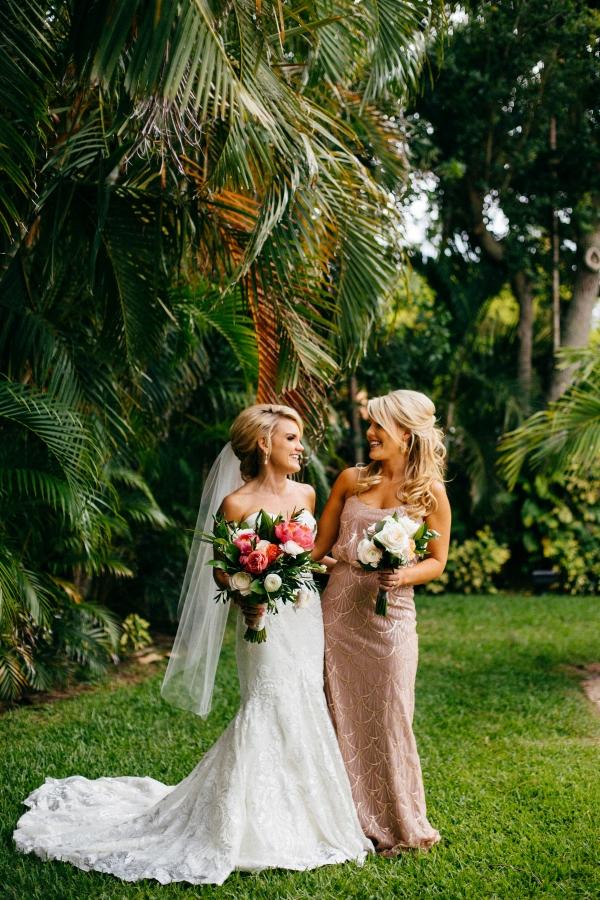 Bridesmaid in Rose Gold